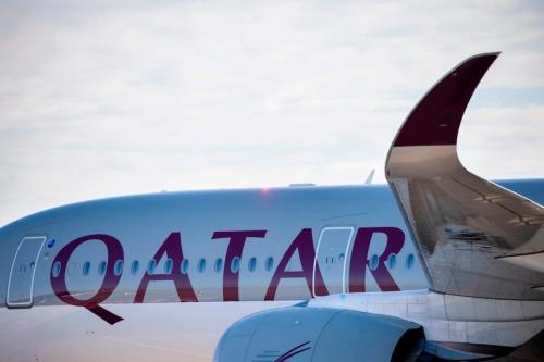 Avião da Qatar Airways, em 4 de novembro de 2020 [Odd Andersen/AFP via Getty Images]
