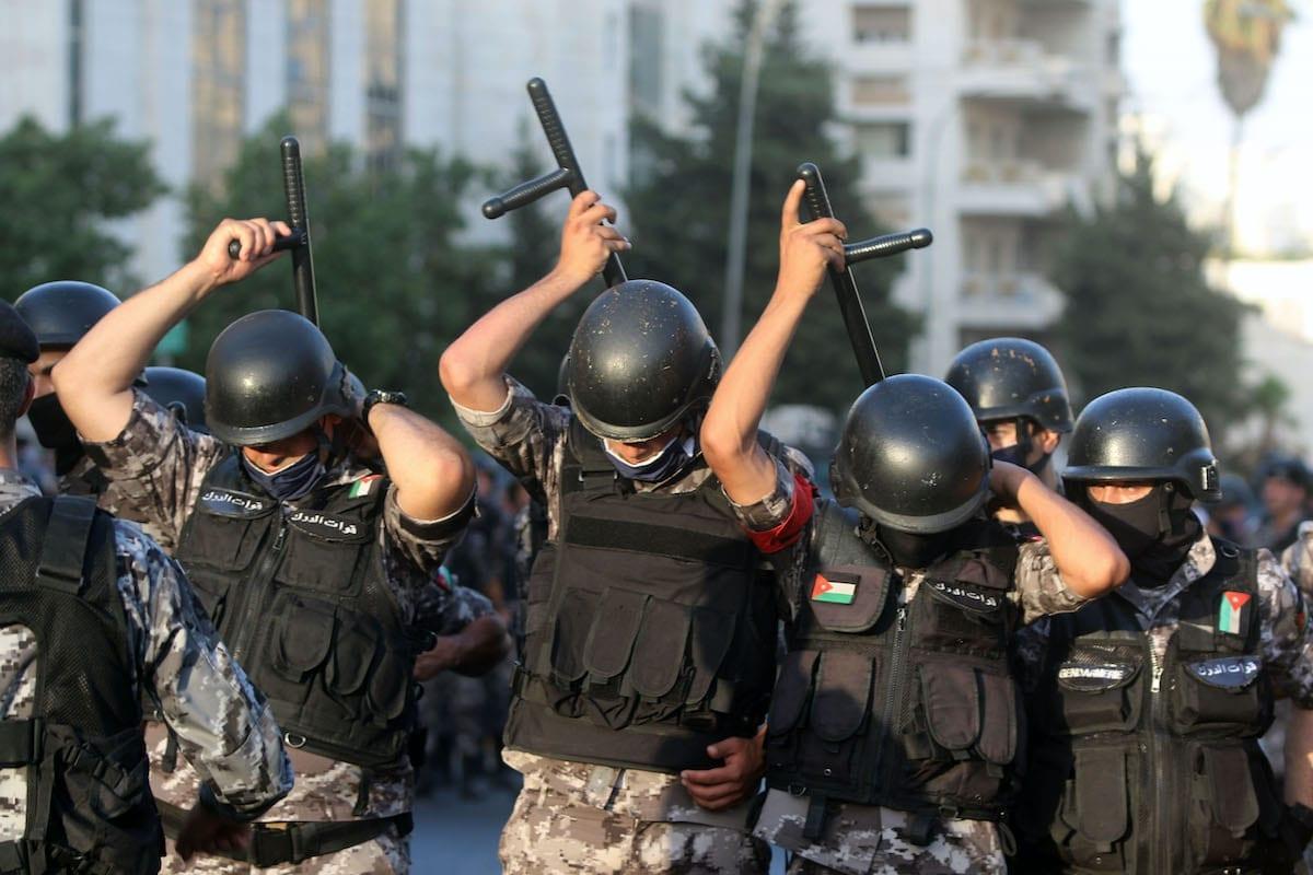 Polícia jordaniana em Amã, Jordânia, em 29 de julho de 2020. [Jordan PIx/Getty Images]