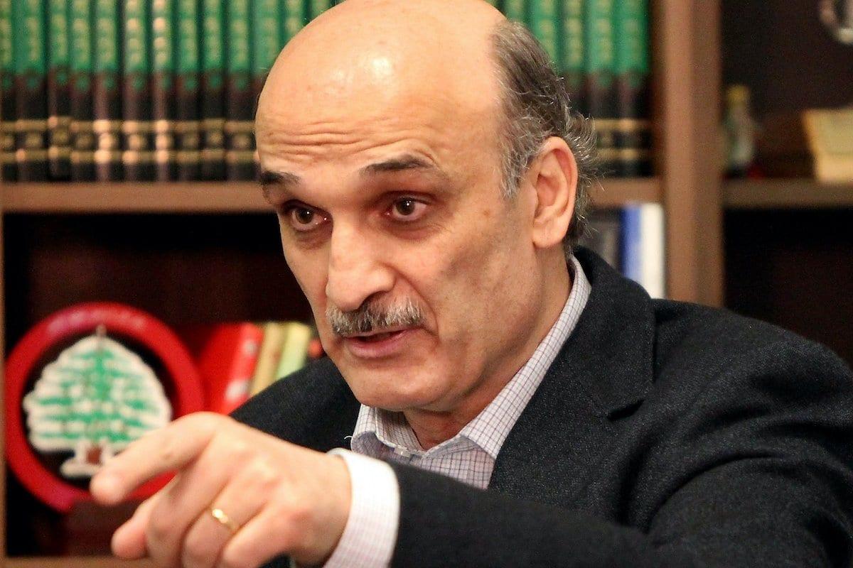 Samir Geagea, líder do partido das Forças Cristãs Libanesas, em sua casa em Maarab, a nordeste de Beirute, em 26 de abril de 2012. [Joseph Eid/ AFP / GettyImages]