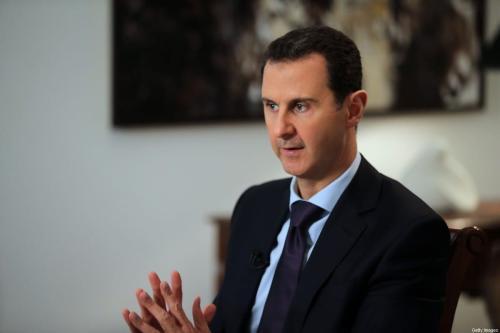 Presidente sírio Bashar Al-Assad em Damasco, Síria em 11 de fevereiro de 2016 [JOSEPH EID/AFP/Getty Images]
