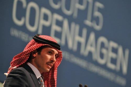 Príncipe jordaniano Hamzah bin al Hussein em Copenhagen em 17 de dezembro de 2009 [Attila Kisbenedek/ AFP via Getty Images]