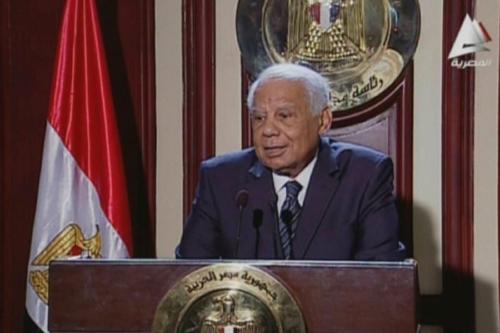O ex-primeiro-ministro do Egito, Hazem El-Beblawi, no Cairo, em 24 de fevereiro de 2014. [AFP/Getty Images]