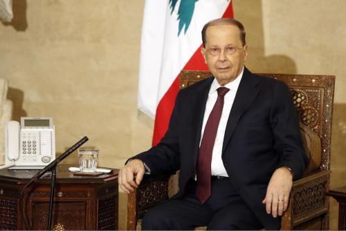 Presidente do Líbano Michel Aoun [Ratib Al Safadi/Agência Anadolu]