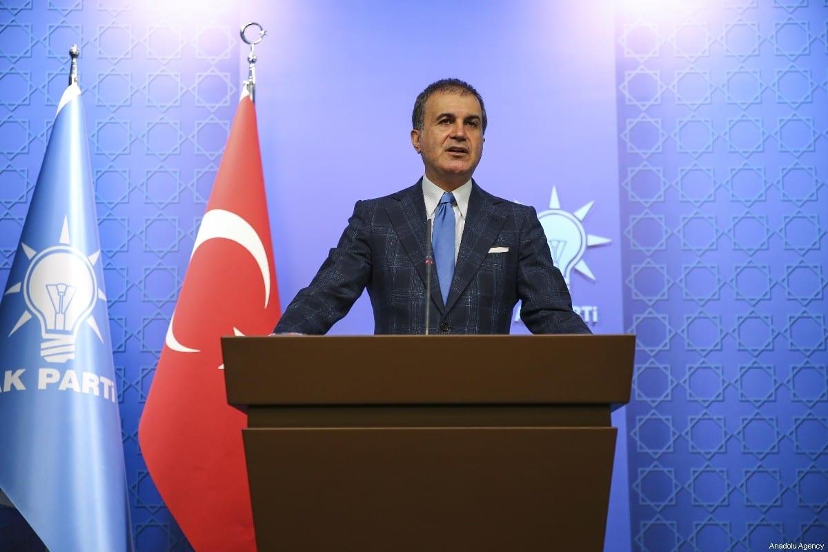 Porta-voz do Partido da Justiça e Desenvolvimento, Omer Celik [Muhammed Selim Korkutata/Agência Anadolu]
