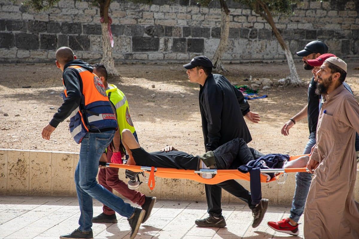 Mesquita de Al-Aqsa foi novamente atacada como marco do Dia de Jerusalém10 de maio de 2021 [ Eyad Tawil/Agência Anadolu]