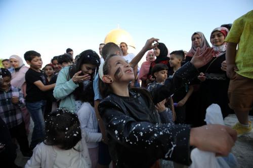 Celebrações do Eid Al-Fitr na Mesquita de Al-Aqsa (Mostafa ALkharouf / Agência Anadolu)
