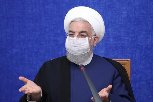 Presidente do Irã Hassan Rouhani durante reunião do Centro de Coordenação Econômica em Teerã, 23 de maio de 2021 [Presidência do Irã/Agência Anadolu]