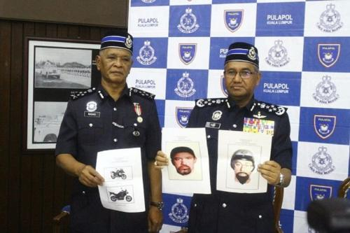 Uma conferência da polícia da Malásia, com fotos dos suspeitos do assassinato do engenheiro palestino Fadi Al-Batsh, abril de 2018 (mídia social)