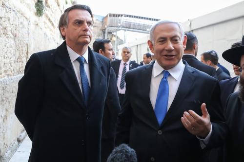 Jair Bolsonaro e Benjamin Netanyahu [ foto Palácio do Planalto]
