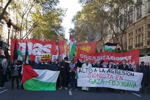 Manifestação em Buenos Aires, Argentina, dia 17 de maio de 2021 [Prensa Latina]