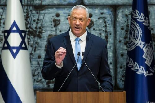 O ministro da Defesa israelense, Benny Gantz, em Jerusalém em 23 de outubro de 2019 [Amir Levy / Getty Images]