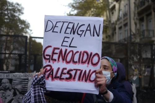 Marcha convoda pelo Comitê Argentino de Solidariedade com o Povo Palestino, em 20 de maio de 2021 [Resumen Latino Americano]