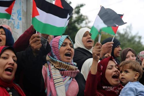 Mulheres em protesto pela Palestina [CAS - Coletivo de Artistas Socialistas]