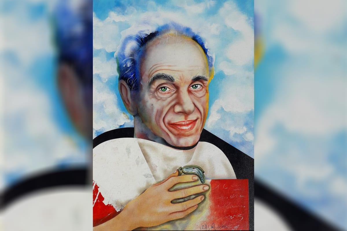 Arte de Elifas Andreato em homenagem ao sociólogo e ativista dos direitos humanos Betinho [Elifas Andreato/Divulgação]