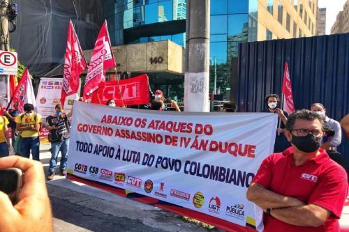 Brasileiros se manifestam em solidariedade à resistência na Colômbia [Conlutas]