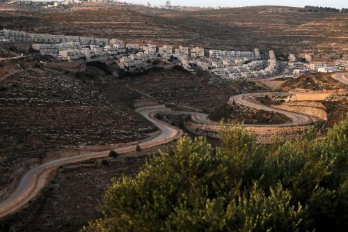 Assentamento ilegal israelense na Cisjordânia ocupada, 10 de junho de 2020 [Ahmad Gharabli/AFP/Getty Images]
