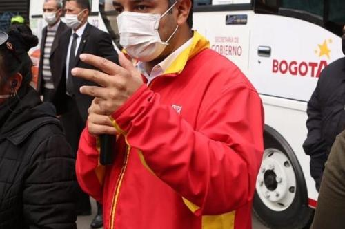Andrés Idárraga, durante atividade da Secretaria de Governo da Colômbia, em setembro de 2020 [Andrés Idárraga/Facebook]