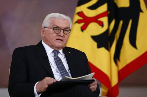 O presidente alemão, Frank-Walter Steinmeier, em Berlim, Alemanha, em 10 de novembro de 2020 [Abdulhamid Hoşbaş/Agência Anadolu]