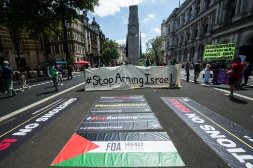 Milhares reúnem-se em Londres para exigir apoio do G7 à Palestina