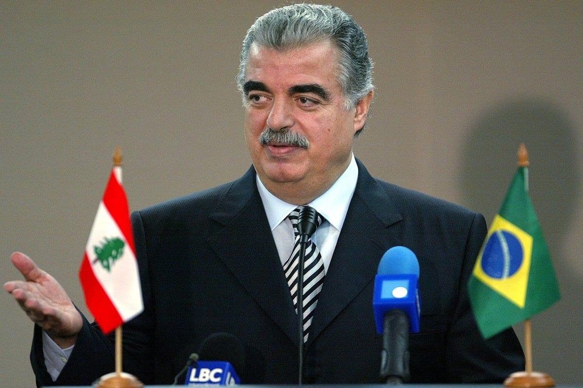 Rafik Hariri, ex-premiê do Líbano, em 9 de junho de 2003 [Mauricio Lima/AFP/Getty Images]