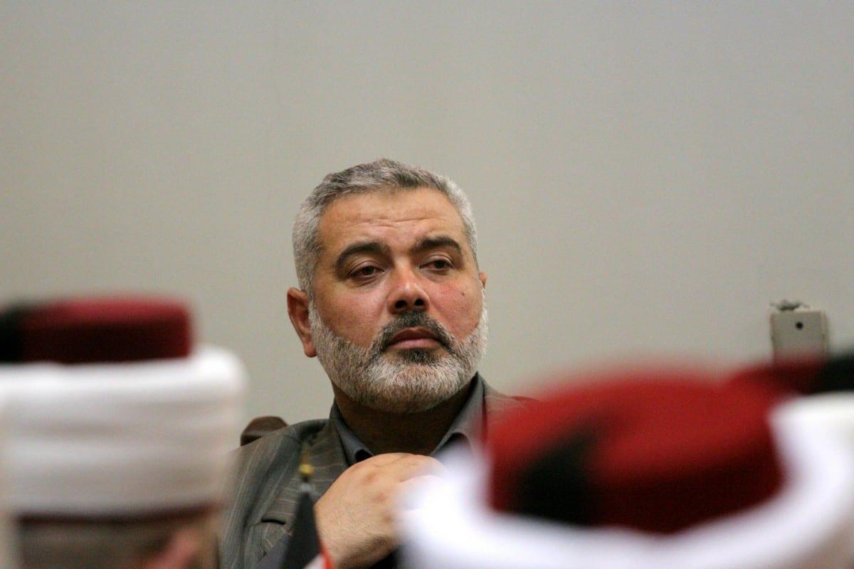 O líder do Hamas Ismail Haniyeh em Gaza, 26 de maio de 2021 [ApaImages]