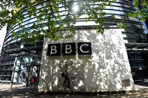Uma visão geral fora dos estúdios da BBC, em 27 de maio de 2021, na Inglaterra [Nathan Stirk/Getty Images]