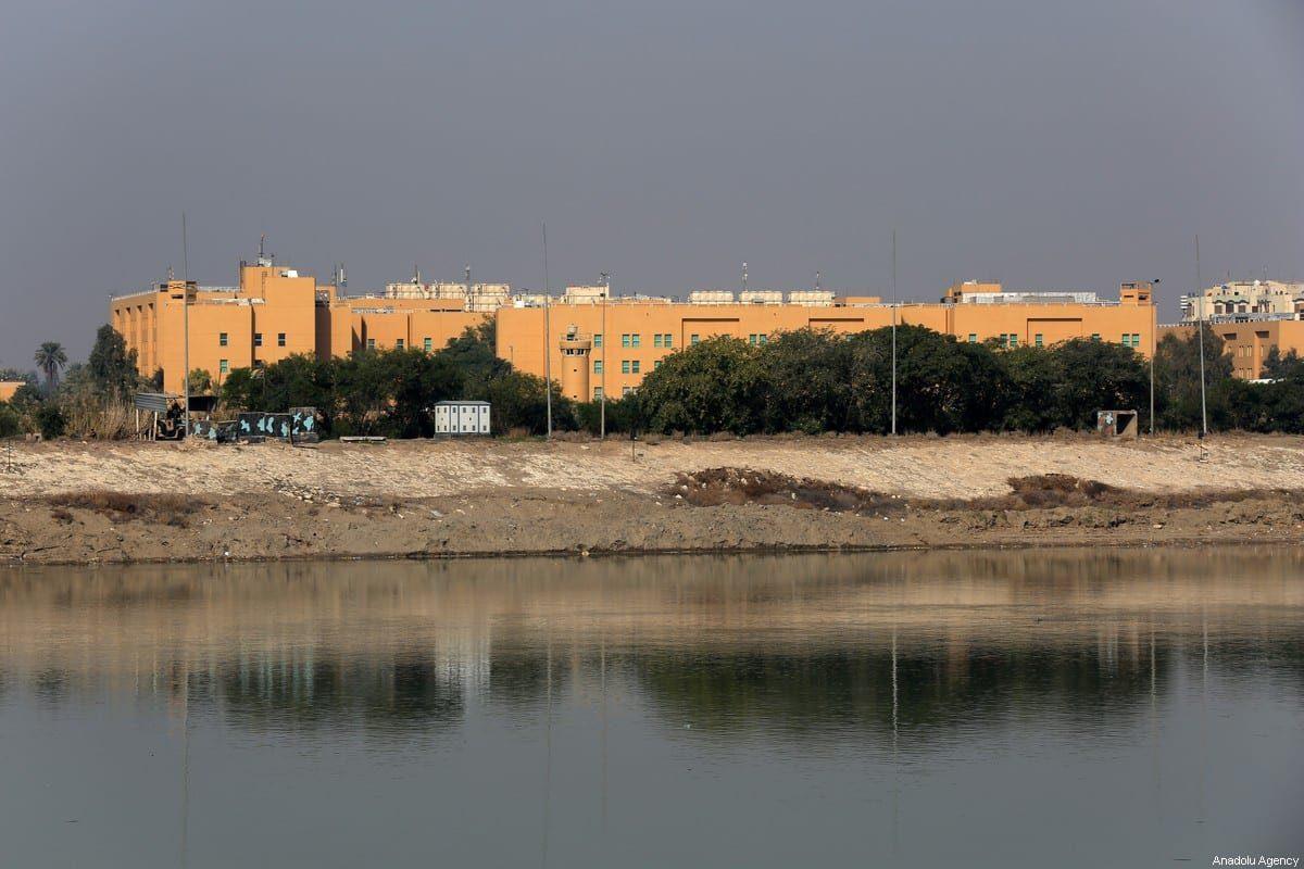 Edifício da Embaixada dos EUA em Bagdá, em 3 de janeiro de 2020, Bagdá, Iraque [Murtadha Sudani/Agência Anadolu]