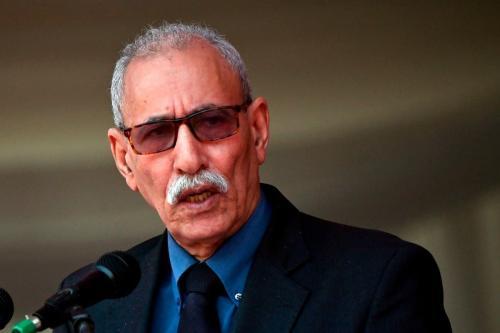 Secretário-geral da Polisário, Brahim Ghali, em 14 de setembro de 2019 [Tony Karumba/AFP/Getty Images]