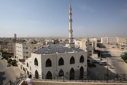 Uma vista da mesquita Hamdan al-Qara no sul de Amã [Khalil Mazraawi/AFP via Getty Images]