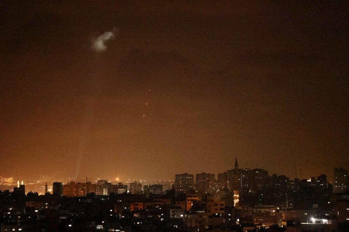 Israel ataca a Faixa de Gaza, 3 de julho de 2021 [Mohamed Abed/AFP via Getty Images]