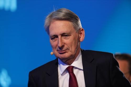 Philip Hammond, ex-chanceler do tesouro britânico, em Pequim, China, 22 de novembro de 2019 [Takaaki Iwabu/Bloomberg/Getty Images]