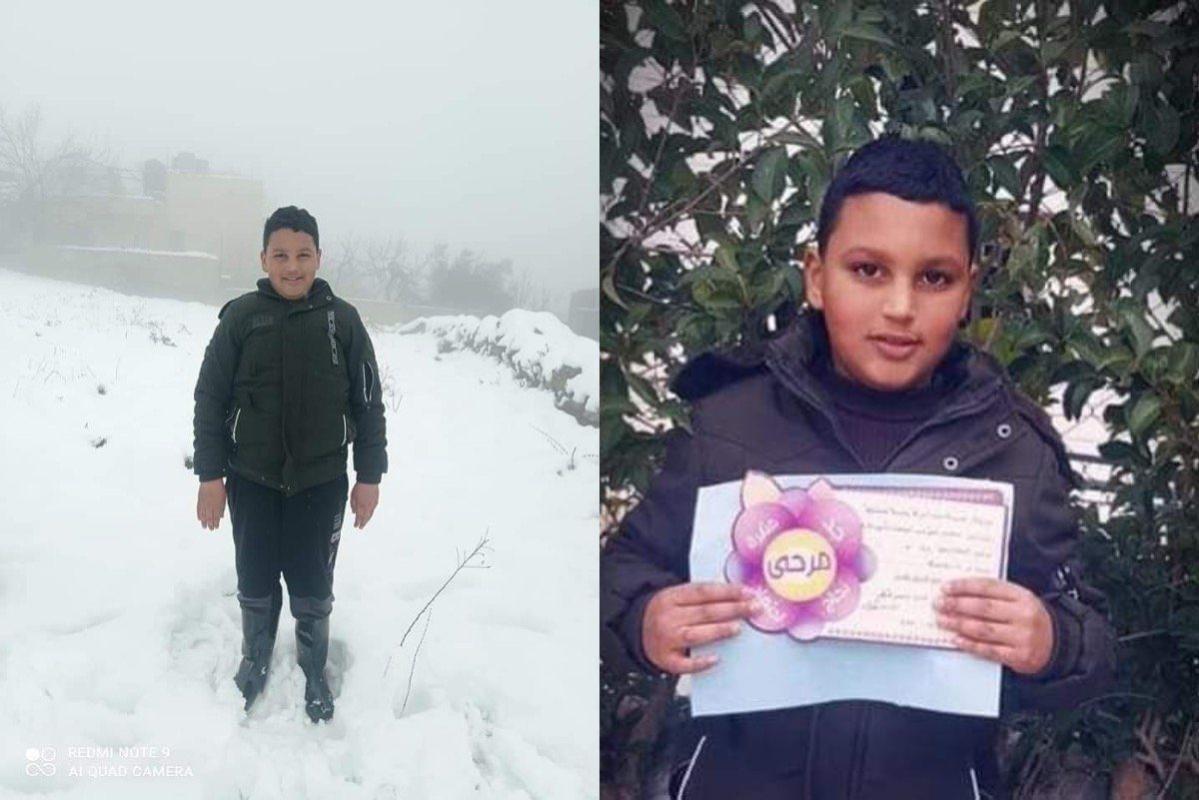 O menino palestino Mohammed Al-Allami [m7mdkurd/Twitter]