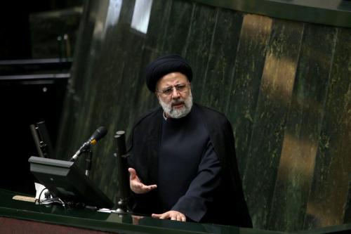 O presidente iraniano, Ebrahim Raisi, na capital Teerã, Irã, em 25 de agosto de 2021 [Fatemeh Bahrami/Agência Anadolu]