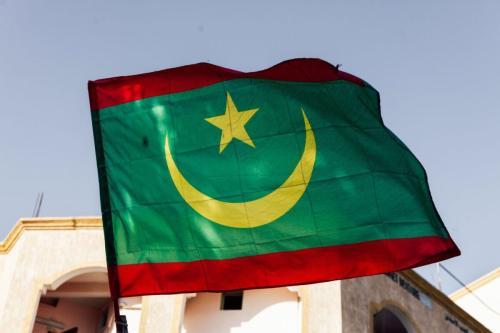Bandeira da Mauritânia [foto de arquivo]