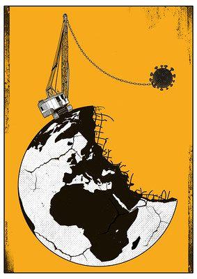Trabalhos do cartunista Fadi Abou Hassan estão na mostra do 48º. Salão Internacional de Humor de Piracicaba [Divulgação]