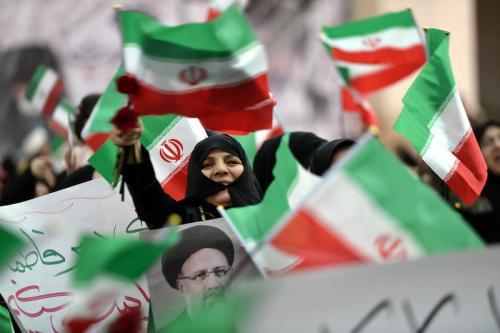 Protesto em Teerã, capital do Irã [Fatemeh Bahrami/Agência Anadolu]