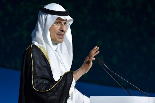 O ministro da Energia da Arábia Saudita, Abdulaziz Bin Salman Al-Saudi, na capital saudita, Riad, em 25 de fevereiro de 2020 [Fayez Nureldine/AFP/Getty Images]