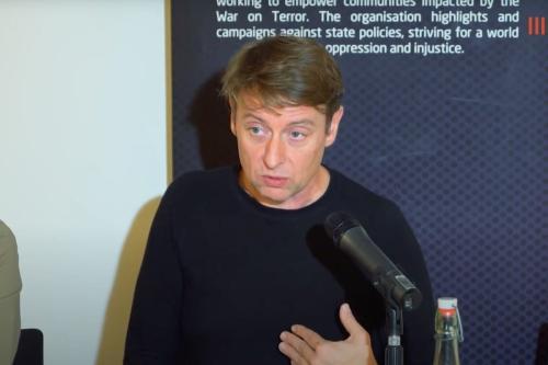 David Miller, acadêmico da Universidade de Bristol, 1º de março de 2021 [Youtube screengrab/CAGE]