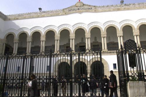 Um tribunal em Túnis, Tunísia, 6 de maio de 2012 [Belaid/AFP via Getty Images]