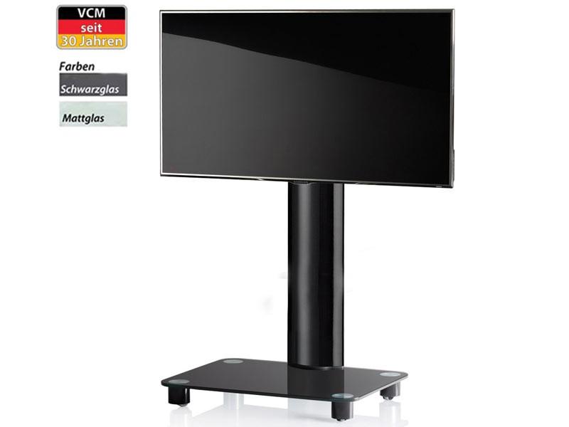 eol vcm bilano schwarz mattglas tv stander inkl rollen