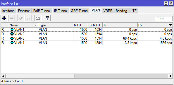 Membuat Interface VLAN Di MikroTik