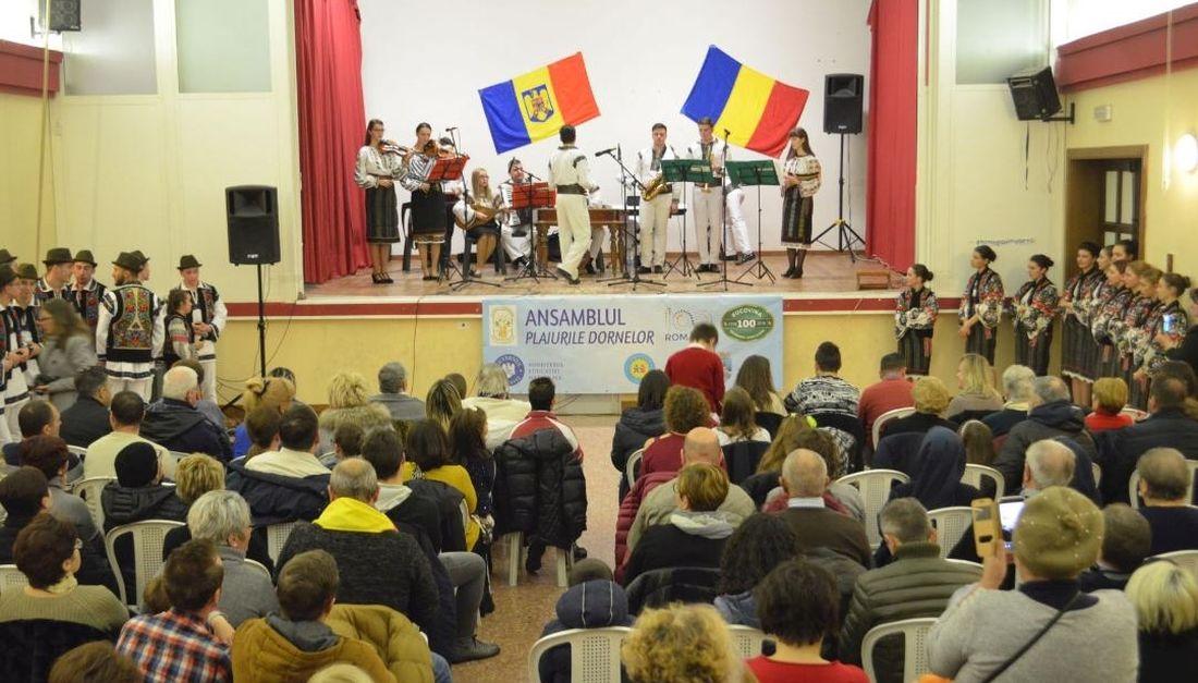 Plaiurile Dornelor, ambasadori pentru Centenarul Marii Uniri pentru românii din Italia