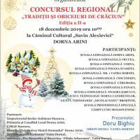 """La Dorna Arini, pe 18 decembrie, are loc a II-a ediție a Concursului Județean """"Tradiții și Obiceiuri de Iarnă"""""""