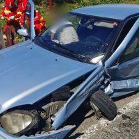 FOTO. Accidentul rutier cu trei răniți de la Poiana Stampei a fost provocat de un șofer care a adormit la volan