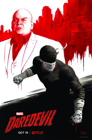 Póster promocional de la tercera temporada de Marvel's Daredevil. ©Marvel Entertainment inc.