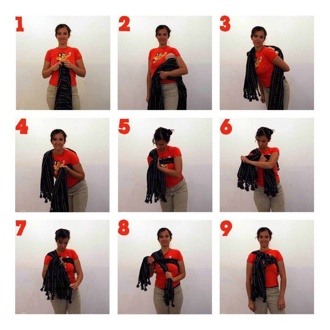 How to Rebozo back carry