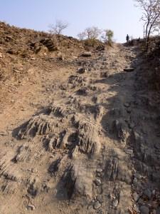 Etwa 7 km nördlich Onjuva wird der Weg etwas rauher.