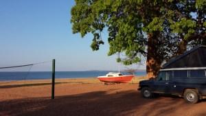 Camping am Karibasee.