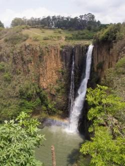 Auch den Howick Falls sieht man an, dass es momentan im südlichen Afrika sehr trocken ist. Man spricht sogar von einer Dürre.