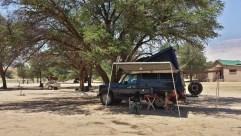 Eitel Sonnenschein auf dem Camping Mata-Mata.